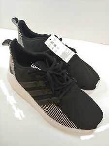 Mens Adidas Questar Flow Black White Running Athletic Shoe EE8202 Size 10.5