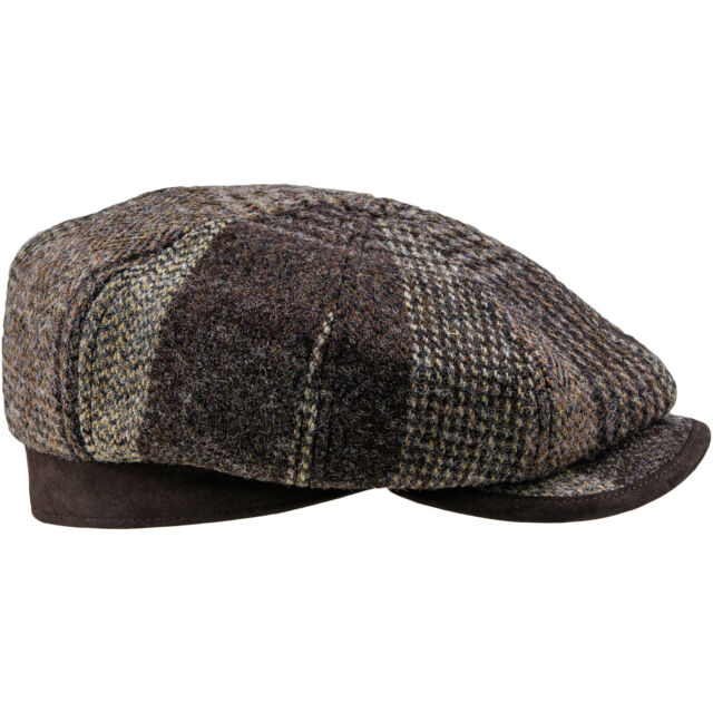 7739ba009d4 Harris Tweed Gatsby 8 Panel Flat Cap 100 Wool Gatsby Vintage Thug ...