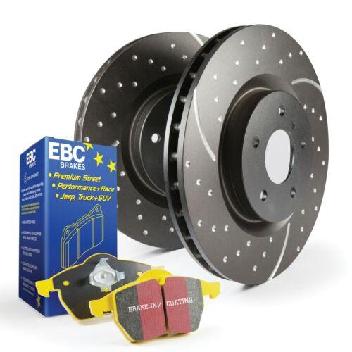 ZAFFIRA B VXR 2.0T REAR EBC Yellowstuff Pad /& Turbo Groove Disc Kit PD13KR333