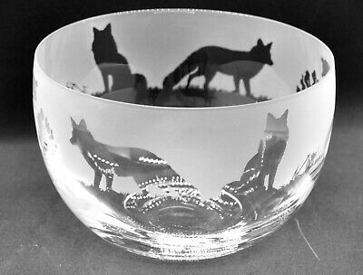 BOXED FOX FRIEZE 35cl Crystal Wine Glass