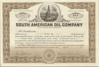 South American Oil Company   1920s stock certificate 10 shares
