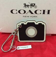 NEW  Coach Leather Camera Bag Charm / Key Chain  F54913 Black/White $70