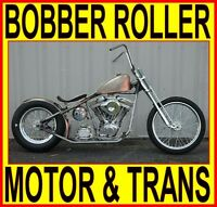100 Motor & Transmission Rigid Bobber Chopper Rolling Chassis Complete Bike Kit