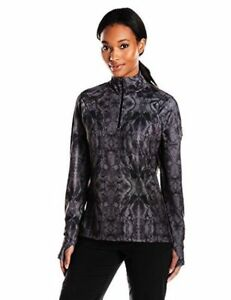 Merrell-Womens-1-4-Zip-Running-Jacket-Pullover-UPF-50-Black-Gray-Size-XXS-NWT