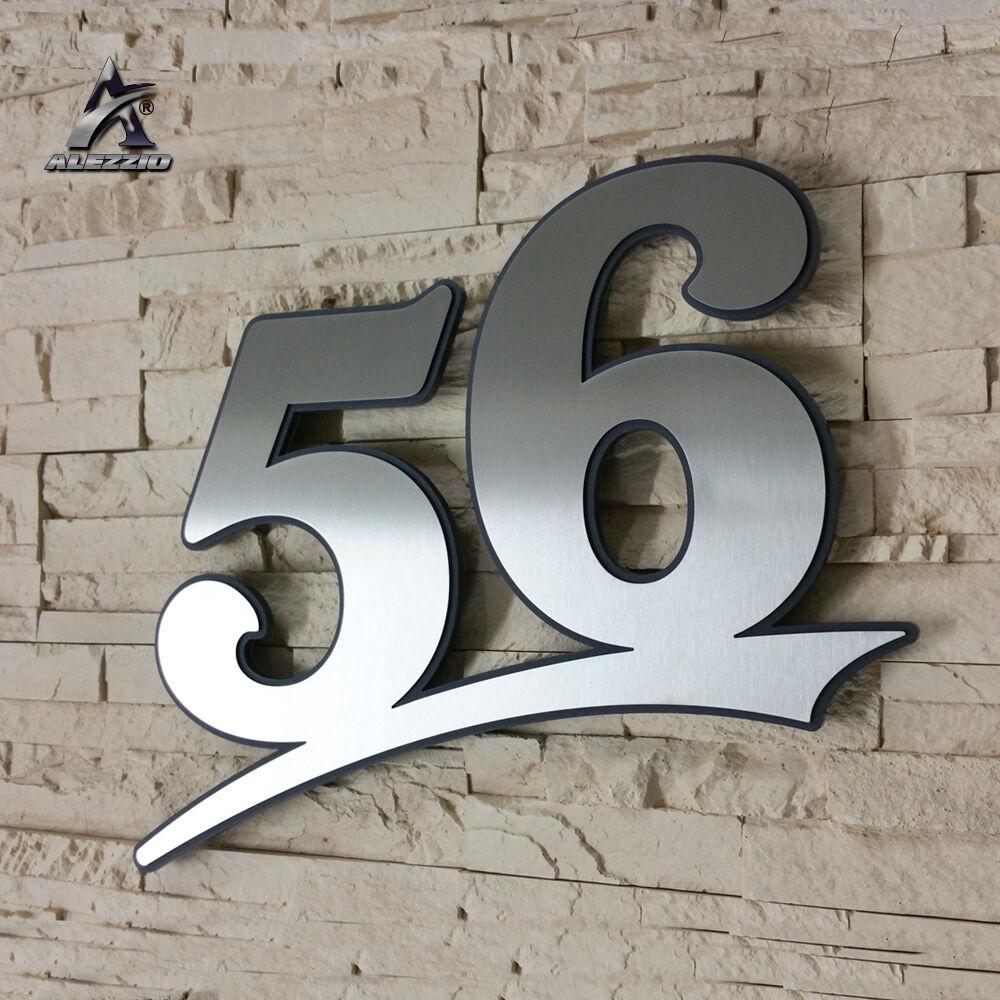 Edelstahl Hausnummer 56,17cm 21cm 31cm,123456789,a,b,c,d Acrylglas Anthrazitgrau | Verwendet in der Haltbarkeit  | Starke Hitze- und Hitzebeständigkeit  | Kaufen Sie online