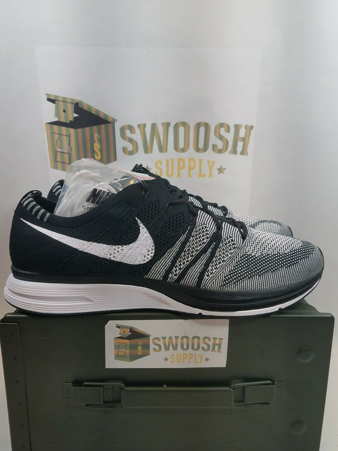 Nike Flyknit Trainer Running Black White Oreo 2018 AH8396-005 Comfortable Comfortable and good-looking