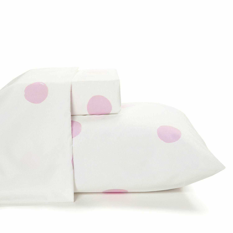 Pink Polka Dot Bed Sheets 4 Pc Set - Unisex Microfiber Bedding