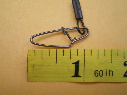 """15 S S environ 36.29 kg 1X7 Strand avec roulement à billes pivotant Wire Spinner leader 9/"""" Test 80 lb"""