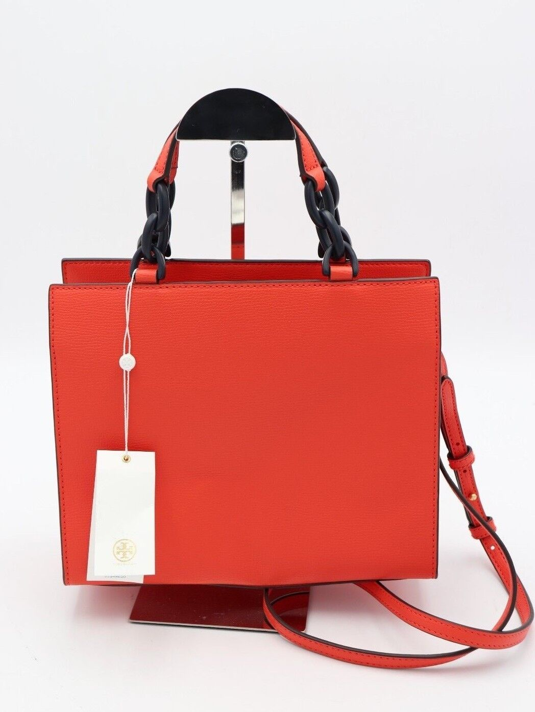 72349169c706 Tory Burch Kira Red Leather Small Tote Crossbody Shoulder Bag 45157 ...