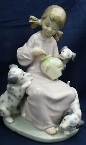 Lladro-girl-with-Dalmation-puppies-SWEETIE-made-between-1974-1990