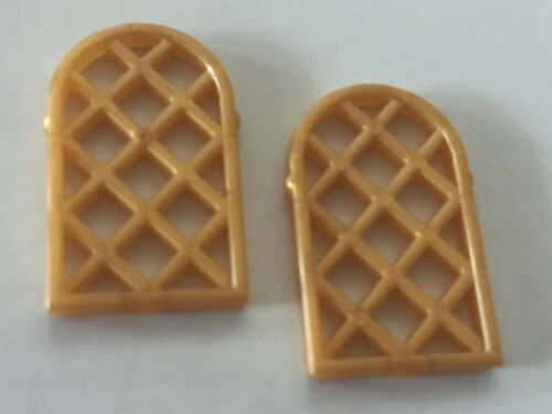 *NEW* 10 Pieces Lego GOLD Window Pane Lattice Diamond 1x2x2 2//3
