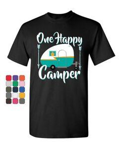 One-Happy-Camper-T-Shirt-Camping-Roadtrip-RV-Trailer-Mens-Tee-Shirt