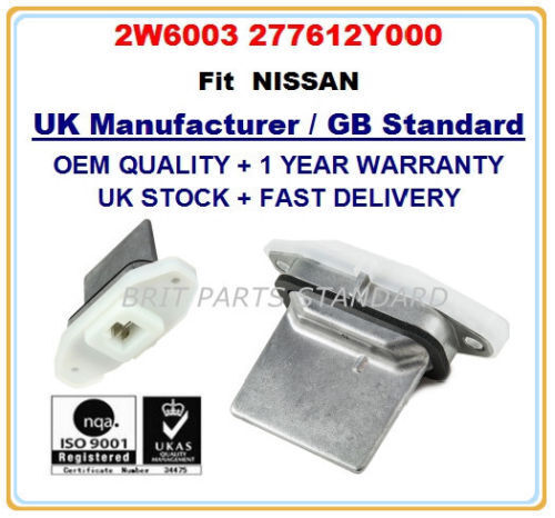 HEATER BLOWER MOTOR RESISTOR 2W6003 277612Y000 for NISSAN X-TRAIL T30 OE QUALITY