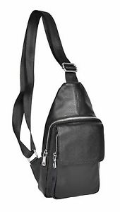 Chest Leather Womens Bag Rucksack Shoulder Real Small Backpack A347 Girls Black wwSfq86