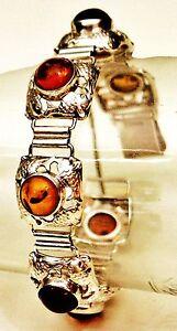 Fischland-Armband-835er-Silber-Bernstein-Amber-Sailor-Bracelet-Kramer-Fisch-P86
