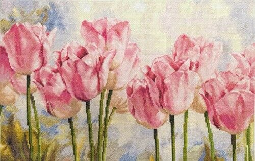 """Counted Cross Stitch Kit Alisa 2-37 /""""Roses Tulipes/"""""""