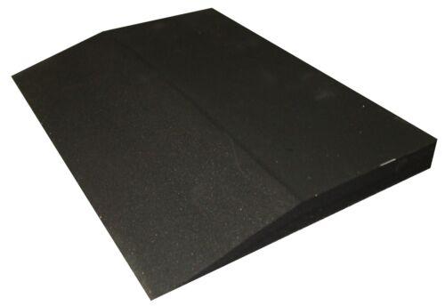 22 mm Aufbaukeil Aufbauplatte Keil Lunalight 60°Shore schwarz leicht Gummiplatte