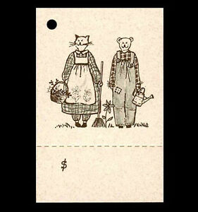50 GARDEN PRICE TAGS ~FRIENDS GARDENING~ PERFORATED CUTE PERSONALIZE CRAFTS
