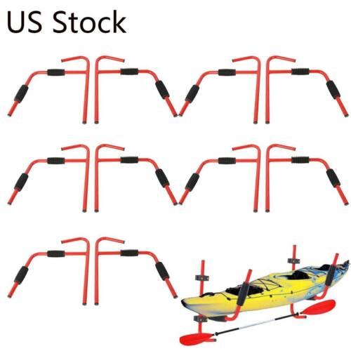 1-10 Pairs Kayak Ladder Wall Mount Storage Rack Surfboard Canoe Folding Hanger