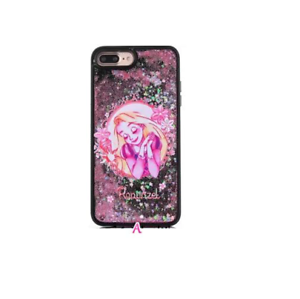 purchase cheap 2c1a8 90ef5 Details about Disney Princess Glitter Liquid Phone Case Cover iPhone 6 7 8  Plus Jasmine Tink