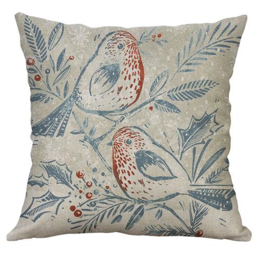 """18/"""" Bird Pattern Cotton Linen Cushion Cover Pillow Case Sofa Home Decor"""
