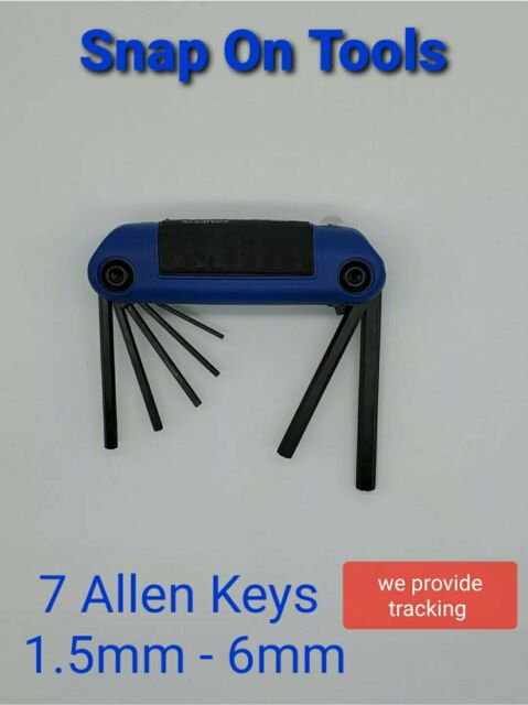 Snap On Folding Allen Key Set Metric Awm7k For Sale Ebay