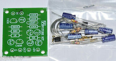 Dynamic Microphone Preamplifier Kit Easy /& Simple DIY Un-assembled Kit Stereo