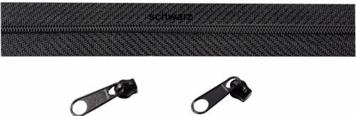Spirale endlos inkl.4 Zipper 2m Reißverschluss Meterware 3mm 0,75€//m