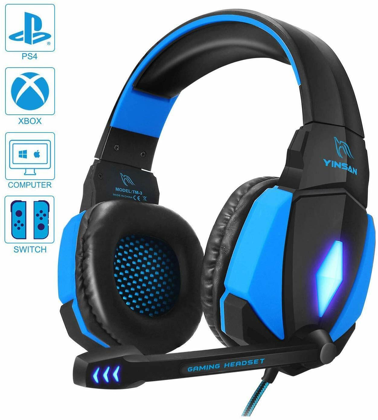 Cuffie da Gioco per PC, Cuffie Gaming con Cavo USB Audio