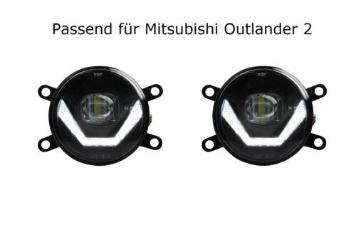 Feux diurnes Black CREE Chip MITSUBISHI OUTLANDER 2 lsw4 DEL Anti-Brouillard