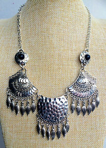 Silver-Tibet-Boho-Chic-Vintage-Style-Bohemian-Mexican-Gypsy-Tassel-Necklace-UK