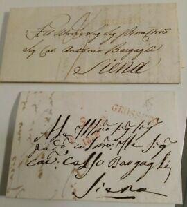 1832-230-DUE-PREFILATELICHE-DA-GROSSETO-A-SIENA-CON-TIMBRO-039-GROSSETO-039-IN-ROSSO