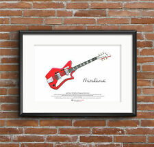 Jack White's Airline JB Hutto guitar ART POSTER A3 size