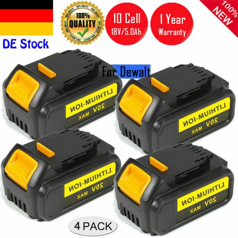 4 X 5.0Ah 18V Li-ion Akku Für Dewalt DCB180 DCD785 DCB182 DCF885 DCB204-2 DCS DE