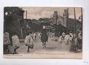 Carte-postale-MADAGASCAR-Tananarive-La-rue-des-Canons-1912