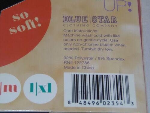 SM // MED *FREE SHIPPING* FLEECE LINED RD-1-2 BLUE STAR GRAY LEGGINGS
