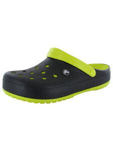 Crocs Crocband Carbon Graphic Clog, Green/Black, Mens 5 US M / Womens 7 US M
