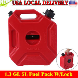 1.3Gallon Gas Spare Container Fuel Pack Can with Mounting Kit ATV UTV Off Road Y