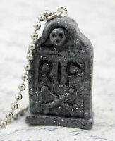 Headstone Necklace - Tombstone Jewelry - Gothic