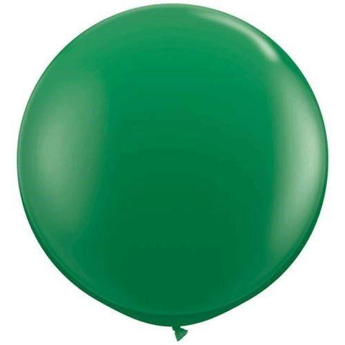 "Qualatex 3 ft Green Balloon Round Latex Rubber Large Jumbo Big 36/"" In 2"
