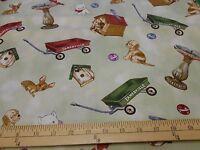 1 Yard Blue Hill doll House Fabric