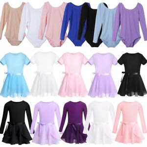Girls-Gymnastics-Dance-Dress-Ballet-Leotards-with-Tutu-Skirt-Dancewear-Costume
