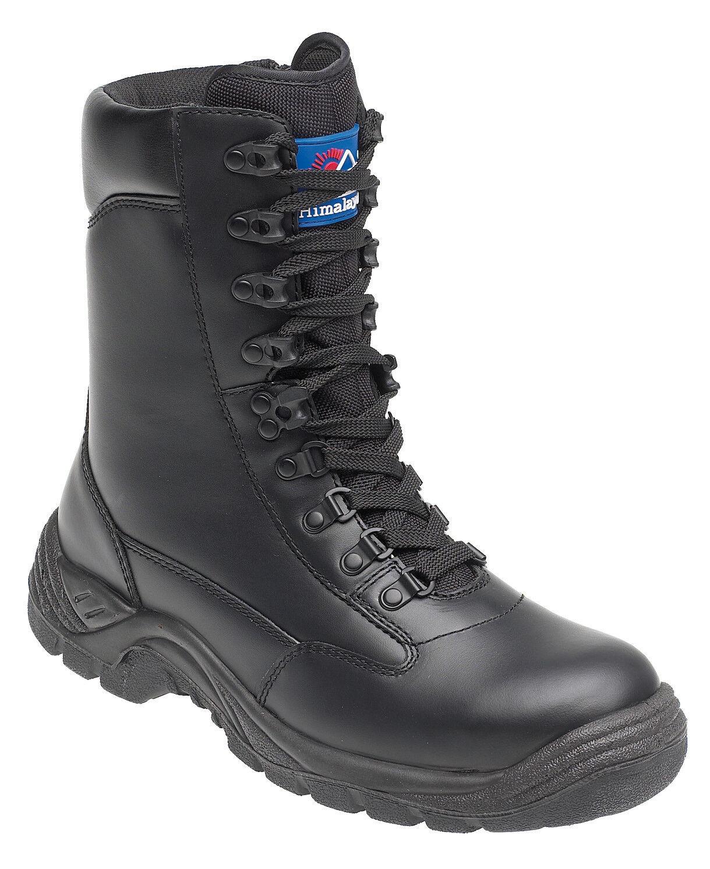 Himalayan 5060 s1p SRC in pelle nera punta in acciaio Gamba Alta Cerniera Stivali Di Sicurezza | Primi Clienti  | Uomo/Donna Scarpa