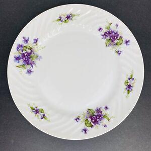 """Fine Seyei China Violette 10"""" Dinner Plate Purple Flowers Vintage"""