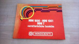 Innocenti-Mini-1000-1001-T-Manuale-Officina-1972-ORIGINALE-Italiano