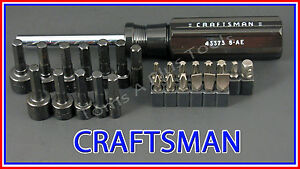 CRAFTSMAN HAND TOOLS 27pc Magnetic Torx Handle Screwdriver / Nut driver set !!
