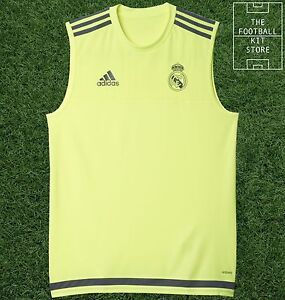 the latest f7594 e07b5 Details about Real Madrid Sleeveless Training Shirt - Official Adidas  Football Training -Mens
