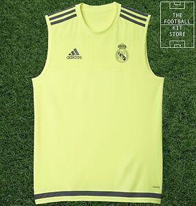 9c9901f1f3d Image is loading Real-Madrid-Sleeveless-Training-Shirt-Official-Adidas- Football-
