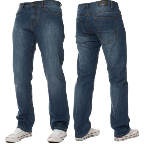 ENZO Jeans Da Uomo Gamba Dritta Regular Fit Denim Pantaloni Pants tutte le taglie Big King