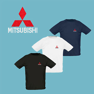 Mitsubishi-T-Shirt-EMBROIDERED-Auto-Car-Logo-Tee-Mens-Clothing-Accessories-Gift